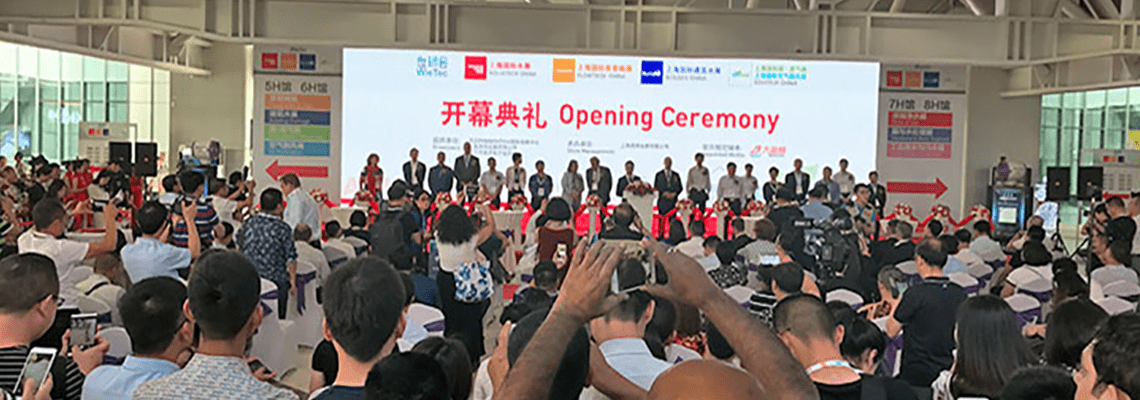 Aquatech China opened today, proudly celebrating its 10th anniversary
